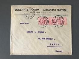 Egypte, Lettre D'ALEXANDRIE Pour Paris 1922 - (B2438) - Ägypten