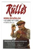 La Rulles Brasserie Artisanale - Carte De Visite - Visitekaartje - Business Card - Beer