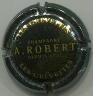 CAPSULE-CHAMPAGNE ROBERT A. N°03-2 Les Grevettes Noir & Or - Champagne