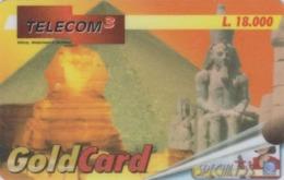 Télécarte Italie - Histoire Antiquité - Site EGYPTE / Sphynx & Pyramide - EGYPT Rel. Prepaid Phonecard - ÄGYPTEN - 257 - Cultura