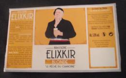 """ETIQUETTE BIERE FRANCE ELIXKIR BLONDE """"LE PECHE DU CHANOINE"""" - NEUVE - Beer"""