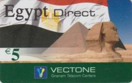 Télécarte Italie - Histoire Antiquité - Site EGYPTE / Sphynx & Pyramide - EGYPT Rel. Prepaid Phonecard - ÄGYPTEN - 258 - Cultura