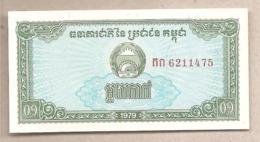 Cambogia - Banconota Non Circolata FdS Da 0,10 Rials P-25a - 1979 #18 - Cambogia