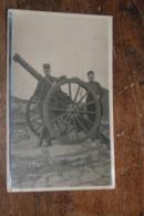 Carte Photo 7e Régiment Canon Front 1915 Correspondance Militaire - Weltkrieg 1914-18
