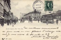 216/ Herald Square, New York City, Tram, Paard Met Koets 1905 - Autres