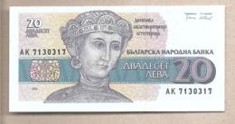 Bulgaria - Banconota Non Circolata FdS Da 20 Lev P-100a - 1991 #18 - Bulgaria