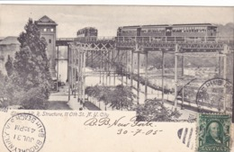 217/ Elevated R.R Structure, 11 Oth St. NY City, 1905, Treinen - Autres