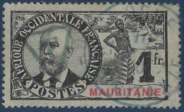 France Colonies Mauritanie Général Bellay Taxe N°8 1fr Belley RR Signé Calves - Gebraucht