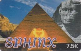 Télécarte France - Histoire Antiquité - Site EGYPTE / Sphynx & Pyramide - EGYPT Rel. Prepaid Phonecard - ÄGYPTEN - 259 - Cultura