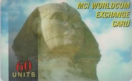 Télécarte EGYPTE - Histoire Antiquité - Sphynx - EGYPT Rel. Prepaid Phonecard - ÄGYPTEN - Site 260 - Cultura