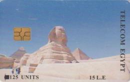 Télécarte à Puce EGYPTE - Histoire Antiquité - Sphynx & Pyramide - EGYPT Chip Phonecard - ÄGYPTEN - Site 262 - Cultura