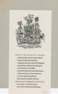 Nieuwjaarskaart 1957 Hermann Huffert (1915-1995) Gesigneerd - Estampes & Gravures