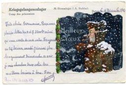 LOT De 6 CPA: 4 Expédiées Par Des Prisonniers De Guerre (1918,1940 Et 1943) + Croix Rouge + 2 Correspondances Militaires - Guerre 1939-45