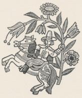 Nieuwjaarskaart Familie Huffert - Hermann Huffert (1915-1995) - Estampes & Gravures