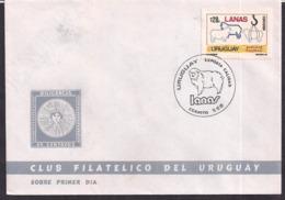 Uruguay - 1986 - Cachets Spéciaux - FDC -  Laine - L'Uruguay Exporte De La Qualité - Uruguay
