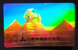 Télécarte Japon / 110-016 - HOLO 3 D - EGYPTE - SPHINX & PYRAMIDE - EGYPT Japan HOLOGRAM Phonecard - 266 - Cultura