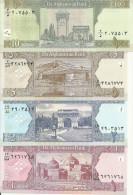 AFGHANISTAN 1-2-5-10 AFGHANIS ND2002 UNC P 64-65-66-67 ( 4 Billets ) - Afghanistan
