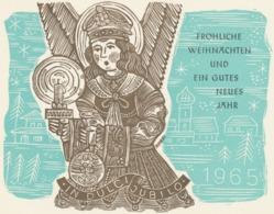 Nieuwjaarskaart 1965 Hermann Huffert (1915-1995) - Estampes & Gravures