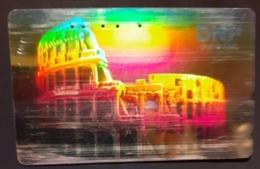 Télécarte Japon / 110-016 A - HOLO 3 D - ITALIE ROME COLISEE - ITALY ROMA COLOSSEO Japan HOLOGRAM Phonecard - Cultura