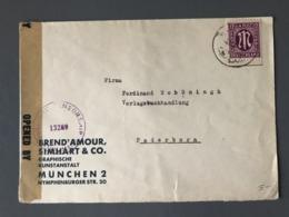 Autriche, Lettre Pour Paris, Cachet De Censure Violet MILITARY CENSORSHIP CIVIL MAILS 13289 - (B2460) - 1918-1945 1ra República