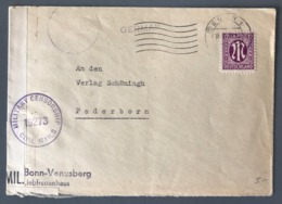 Autriche, Lettre Pour Paris, Cachet De Censure Violet MILITARY CENSORSHIP CIVIL MAILS 19273 - (B2461) - Briefe U. Dokumente
