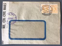 Autriche, Lettre Pour Paris, Cachet De Censure Violet MILITARY CENSORSHIP CIVIL MAILS 19369 - (B2462) - Briefe U. Dokumente