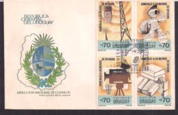Uruguay - 1990 - Cachets Spéciaux - FDC - Hommage Aux Médias - Uruguay