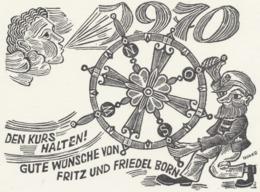 Nieuwjaarskaart 1970 Fritz Und Friedel Born - Hermann Huffert (1915-1995) - Estampes & Gravures