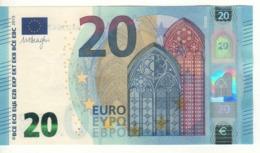 "20 EURO  ""Germany""   DRAGHI    W 001 F6    WA0304779439  /  FDS - UNC - EURO"