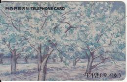 SOUTH KOREA - Apple-tree Garden(W3000), 09/95, Used - Corée Du Sud