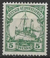 GERMANIA REICH COLONIA  AFRICA DEL SU OWEST 1906  SOPRASTAMPATI YVERT. 27  MLH VF FILIGRANA LOSANGHE - Colony: German South West Africa