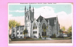 U.S.A. IOWA. CEDAR RAPIDS.   WESTMINSTER PRESBYTERIAN CHURCH. - Cedar Rapids