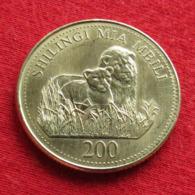 Tanzânia 200 Shilingi 1998 KM# 34Tanzanie - Tanzania