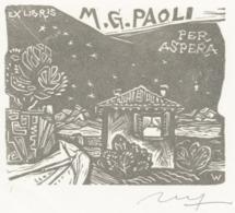 Ex Libris M.G. Paoli - Remo Wolf (1912-2009) Gesigneerd - Ex-Libris