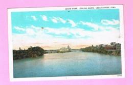 U.S.A. IOWA. CEDAR RAPIDS.  CEDAR RIVER, LOOKING NORTH. - Cedar Rapids