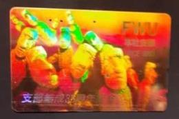 Télécarte Japon / 110-011 A - HOLO 3 D - CHILI - STATUES ILE DE PAQUES - CHILE MOAI - Japan HOLOGRAM Phonecard - Cultura