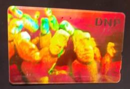 Télécarte Japon / 110-011 B - HOLO 3 D - CHILI - STATUES ILE DE PAQUES - CHILE MOAI - Japan HOLOGRAM Phonecard - Cultura