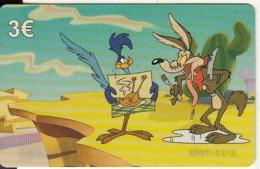 GREECE - Looney Tunes/Coyote & Road Runner, Amimex Prepaid Card 3 Euro, Tirage 2000, Mint - Disney