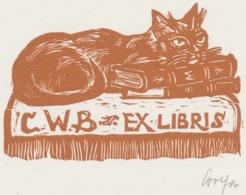Ex Libris CWB - Remo Wolf (1912-2009) Gesigneerd - Ex-libris