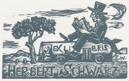 Ex Libris Herbert Schwarz - Remo Wolf (1912-2009) - Exlibris