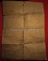 CARTE (PLAN) Au 1/10 000e 1914/1918 TRANCHEES CERNAY UFFHOLZ WATTWILLER HIRTZSTEIN  POSITIONS LIR119/II - Frankrijk