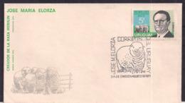 Uruguay - 1971 - Cachets Spéciaux - FDC - Dr. Jose Maria Elorza Créateur De La Race De Moutons Merilin - Uruguay