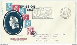 FRS30503 France 1969 FDC Emission Marianne De Cheffer 1967 PARIS - FDC