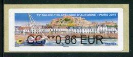 """LISA De 2019 - """"CC **0,86 EUR - ECOPLI - 73e SALON PHILATELIQUE D'AUTOMNE - PARIS  2019"""" - 2010-... Geïllustreerde Frankeervignetten"""