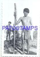 123892 ARGENTINA COSTUMES NATIVE INDIO MATACO 9.5 X 6.5 CM PHOTO NO POSTAL POSTCARD - Argentine