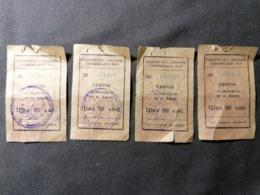 Old Bus Ticket квиток Ukraina Tovarnistvo Ukrainskog Rsr Pcp Ekskursia - Tickets - Entradas