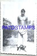 123894 ARGENTINA COSTUMES NATIVE INDIO MATACO 9.5 X 6.5 CM PHOTO NO POSTAL POSTCARD - Argentine