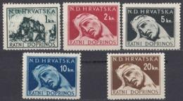 CROAZIA - 1943/1944 - Serie Completa Formata Da 5 Valori Nuovi MNH: Yvert Beneficenza 3/7. - Croacia