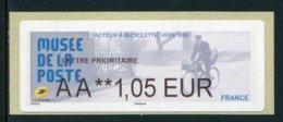 """LISA De 2019 - """"AA **1,05 EUR - LETTRE PRIORITAIRE - MUSEE DE LA POSTE"""" - 2010-... Geïllustreerde Frankeervignetten"""