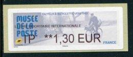 "LISA De 2019 - ""IP **1,30 EUR - LETTRE PRIORITAIRE INTERNATIONALE - MUSEE DE LA POSTE"" - 2010-... Geïllustreerde Frankeervignetten"